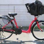 最近珍しい26インチの前子供乗せ付き自転車です