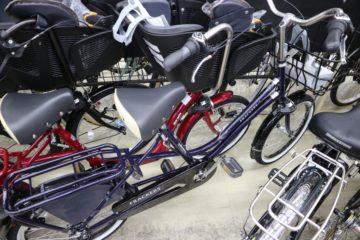 電動アシスト自転車ではない子供乗せ自転車も置いてます その① 丸石サイクル ふらっか~ずココッティ