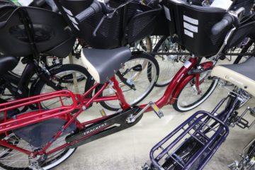 """<span class=""""title"""">電動アシスト自転車ではない子供乗せ自転車も置いてます その② 丸石サイクル ふらっか~ずシュシュ</span>"""